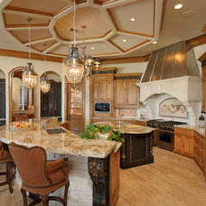 Mediterranean Kitchen by Gary Keith Jackson Design Inc