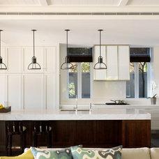 Transitional Kitchen by Porebski Architects