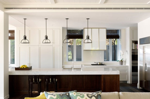Transitional kitchen by porebski architects
