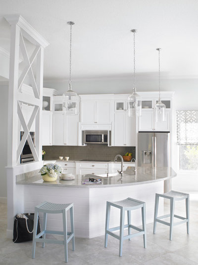 Transitional Kitchen by Krista + Home