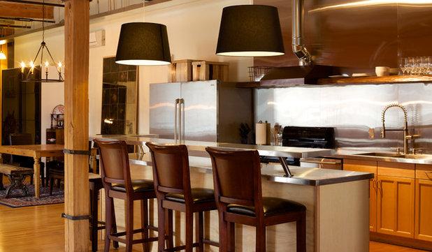 Diy spirit reinvents an industrial home for Amr helmy kitchen designs