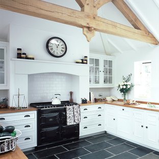 This is an example of a country kitchen in London.