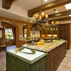 mediterranean kitchen by Hamilton-Gray Design, Inc.