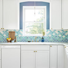 A Designer's New Kitchen Embraces Soothing Sea-Blue Colors