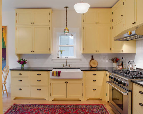Yellow kitchen houzz for Kitchen cabinets yellow