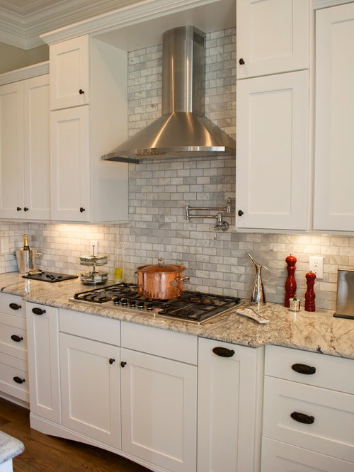 gray tile backsplash home design ideas pictures remodel and decor
