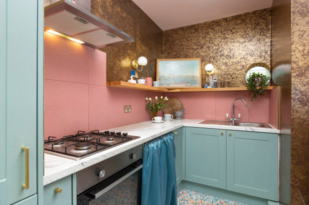 Eclectic Kitchen by Amy Shirlaw Interiors