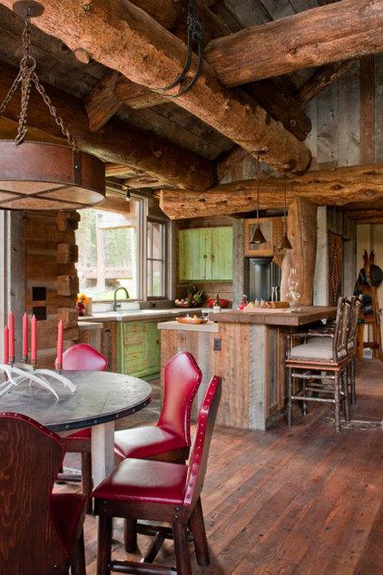 Rustic Kitchen by Dan Joseph Architects