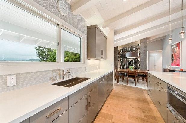 Contemporary Kitchen Healdsburg Hillside Ranch