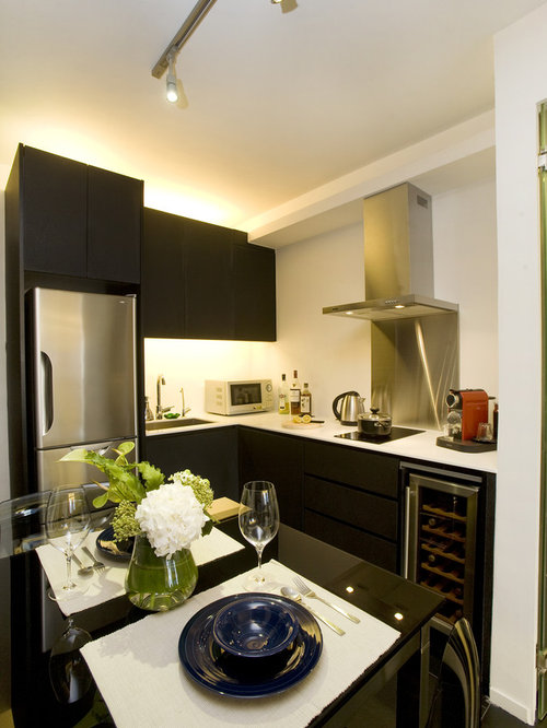 Modern Kitchen Ideas   Example Of A Minimalist Kitchen Design In Hong Kong Part 55