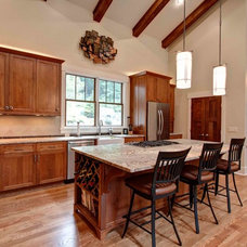 Craftsman Kitchen by Living Stone Construction, Inc.