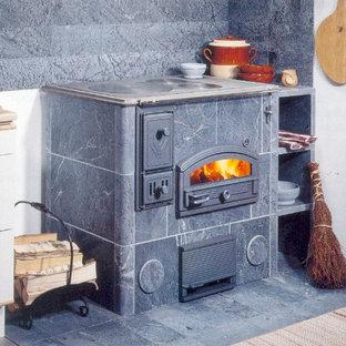Réalisation d'une cuisine chalet.