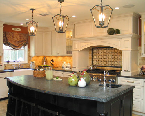 Delicieux Example Of A Classic Kitchen Design In Austin With A Farmhouse Sink, Raised  Panel Part