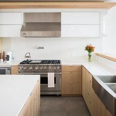 Contemporary Kitchen by Frits de Vries Architect Ltd.