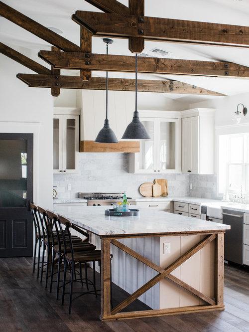 Top 30 Farmhouse Kitchen With Gray Backsplash Ideas