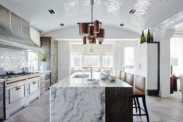 Transitional Kitchen by James Michael Howard