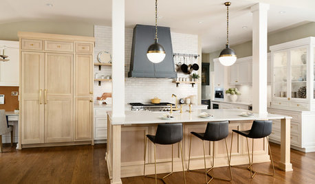Bleached White Oak Cabinets Star in This Two-Tone Kitchen