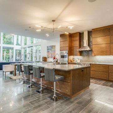 Heirloom Grey Quartz Kitchen Countertops