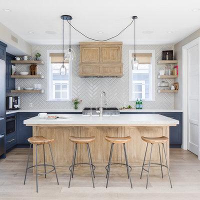 Beach style kitchen photo in Orange County