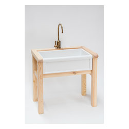 """Herbeau Wooden Stand for 4603 Farmhouse Sink - Herbeau wooden stand for 4603 Luberon & 4614 Art Nouveau single bowl fireclay farmhouse sinks. Measures 35 1/2"""" H x 36 1/2"""" W x 26 1/4"""" D."""