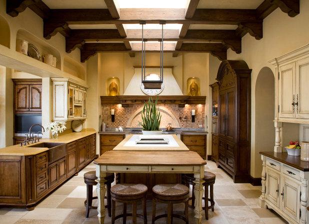 Mediterranean Kitchen by Burdge & Associates Architects