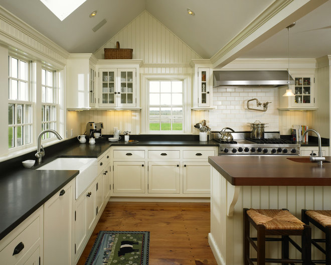Farmhouse Kitchen by Patrick Ahearn Architect