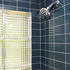 Modern Bathroom by Homework Remodels ~ Tri-Lite Builders