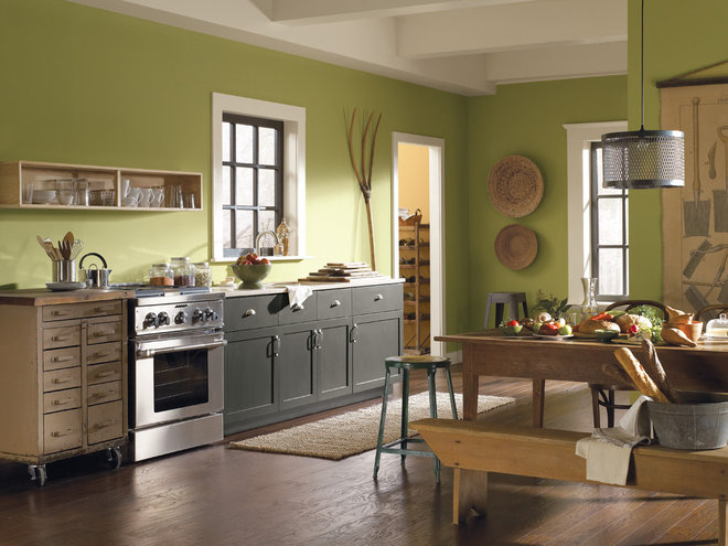Contemporary Kitchen by Sherwin-Williams