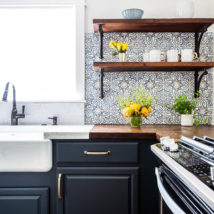 HGTV Modern Farmhouse Marine Blue Kitchen