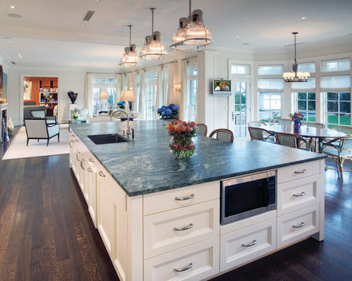 Large island houzz for Big island kitchen design