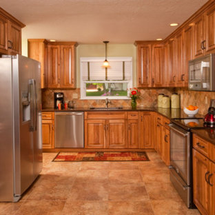 Hickory Kitchen with Natural Stone