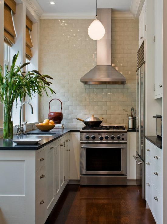 small square kitchen | houzz