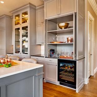 Hidden Bar in Kitchen Cabinets