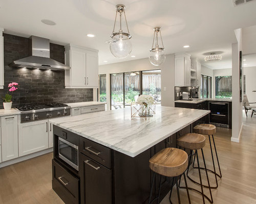 Modern Dallas Open Plan Kitchen Design Ideas Renovations Photos