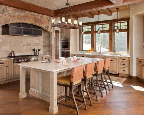 Kitchen Design Ideas, Renovations & Photos with Stone Tiled Splashback ...