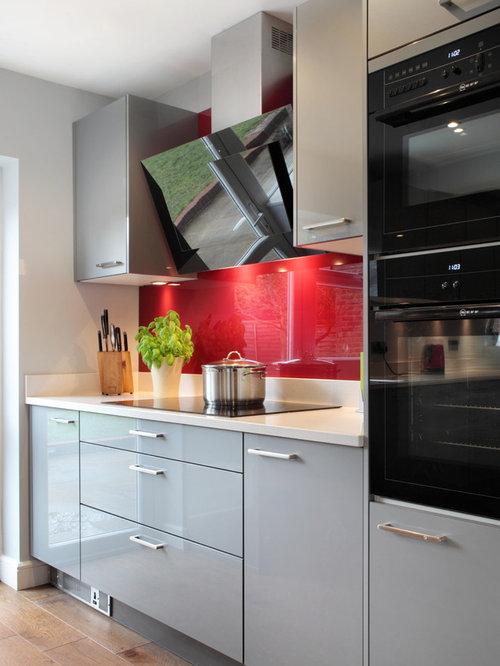 Ikea high gloss grey abstrakt cabinets eat in kitchen for Abstrakt kitchen cabinets