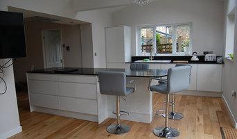 High Gloss handleless bespoke kitchen