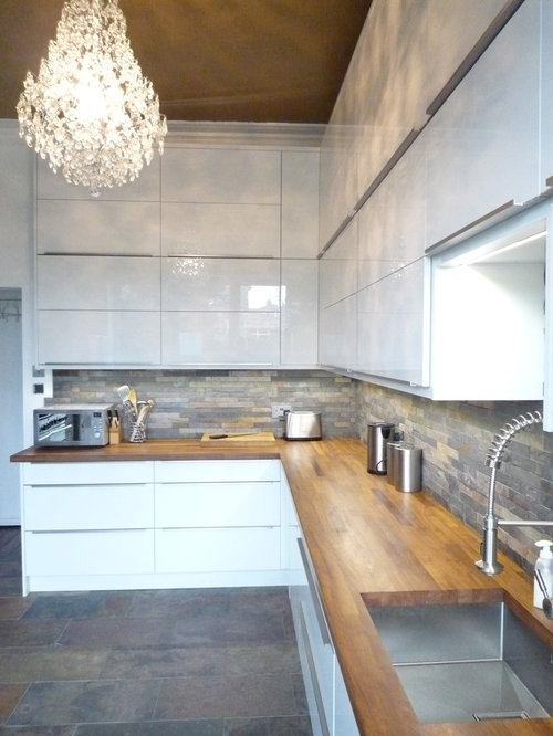 High gloss kitchen guiseley for High gloss kitchen wall units