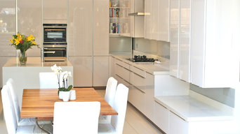 High gloss white lacquered doors