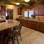 Rustic Cherry - Traditional - Kitchen - Salt Lake City - by Crown Cabinets