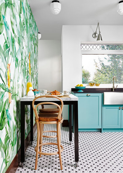 Tropical Kitchen by Toronto Interior Design Group