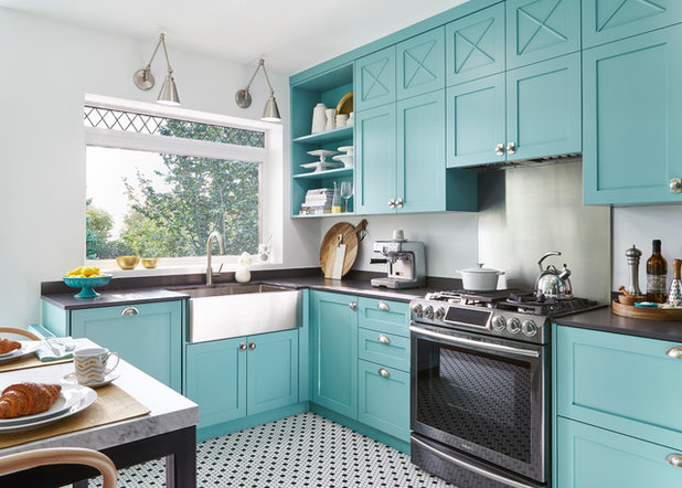 Eclectic Kitchen by Toronto Interior Design Group | Yanic Simard