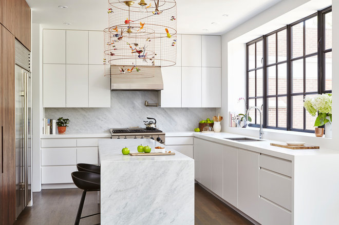 Contemporary Kitchen by Designtheory Inc.
