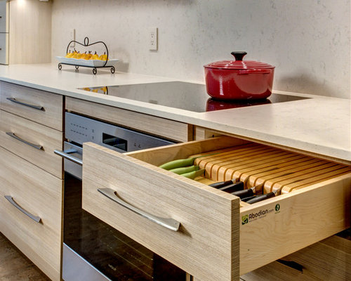 Kitchen Design Ideas Renovations Photos With Brown Cabinets And Cork Flooring