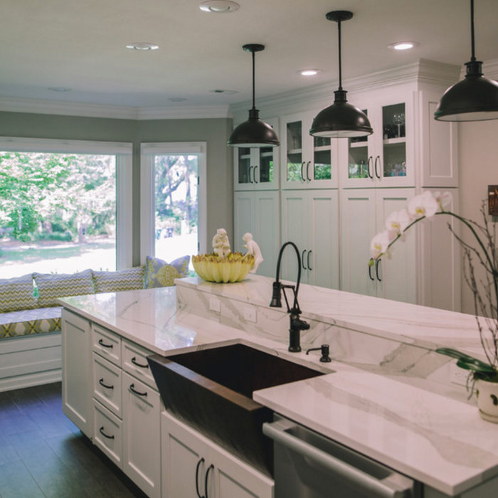 ASID Award-winning Highgrove Remodel | Kitchen, Dining, & Living Rooms