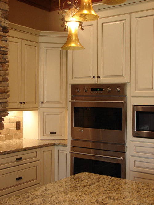 Kraftmaid cocoa glaze mushroom houzz for Dove white cabinets with cocoa glaze