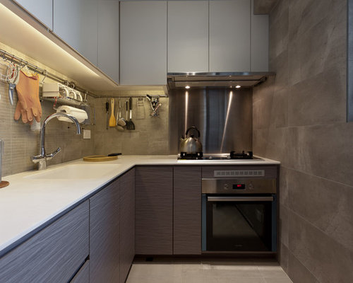 Hong Kong Enclosed Kitchen Design Ideas Renovations Photos