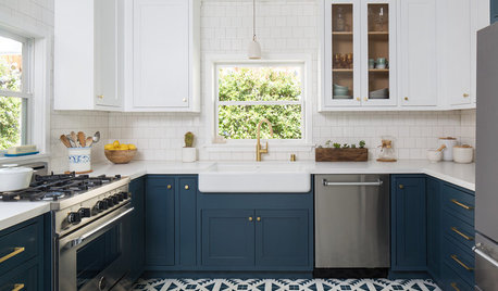 These Kitchens Do Blue Cabinetry Just Right