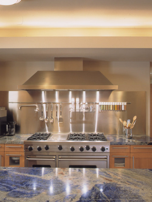 Stainless Steel Backsplash Home Design Ideas Pictures