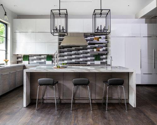 image kitchen island lighting designs. Example Of A Trendy Galley Dark Wood Floor And Brown Kitchen Design In Houston With Image Island Lighting Designs N
